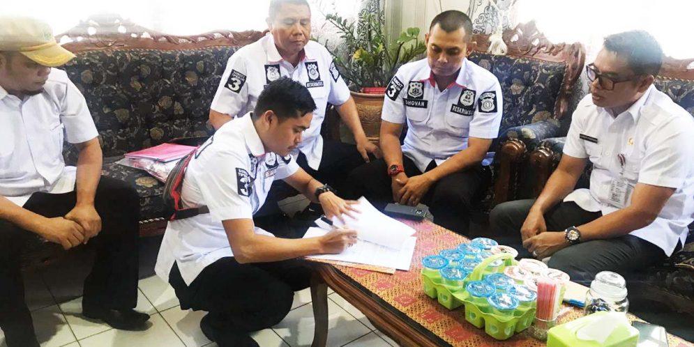 Inspektur Berkooordinasi Dengan Sub Ditreskrimsus Polda Kalteng