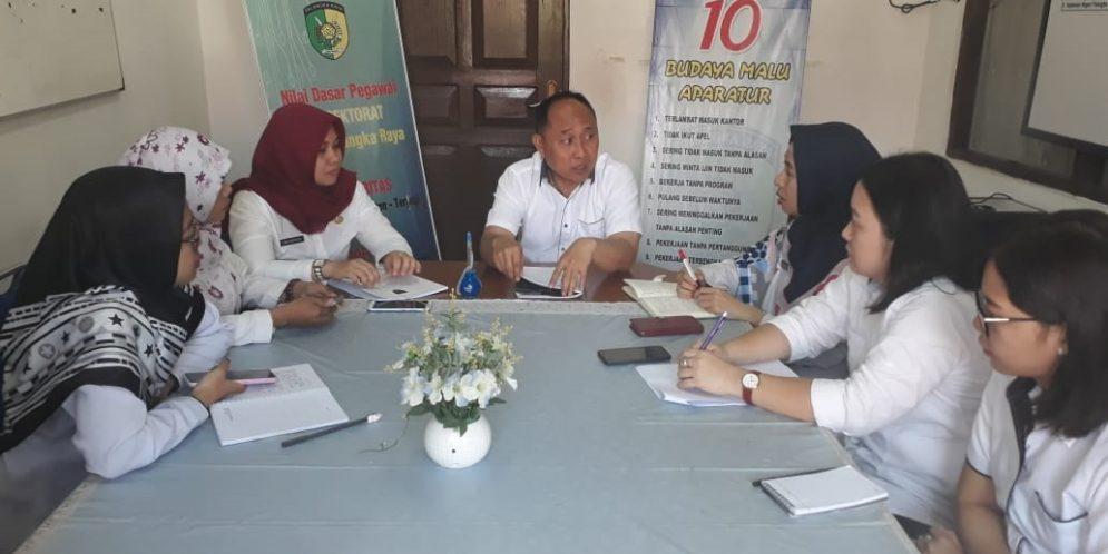 Rapat Aktualisasi Optimalisasi Upaya Tindak Lanjut Rekomendasi Hasil Pemeriksaan di Inspektorat Kota Palangka Raya