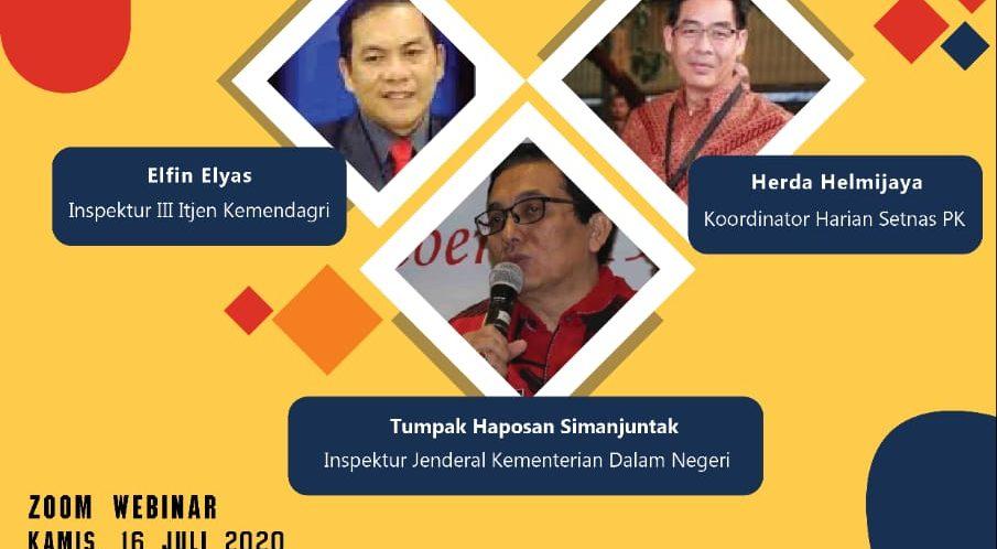 Webinar Penguatan Pelaksanaan dan Komunikasi Aksi Stranas PK bagi Inspektorat dan Diskominfo Pemda Seluruh Indonesia