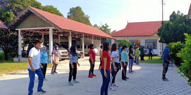 Senam Jum'at Pagi Inspektorat Kota Palangka Raya