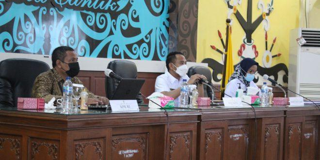 Rapat Koordinasi Pencegahan Korupsi Terintegrasi di Pemerintah Kota Palangka Raya Tahun 2021