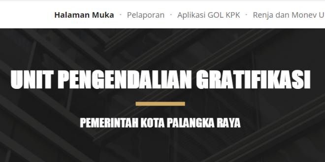 Launching Laman Unit Pengendalian Gratifikasi (UPG) Pemerintah Kota Palangka Raya