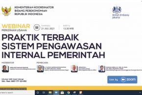 Webinar Perizinan Usaha Praktik Terbaik Sistem Pengawasan Internal Pemerintah