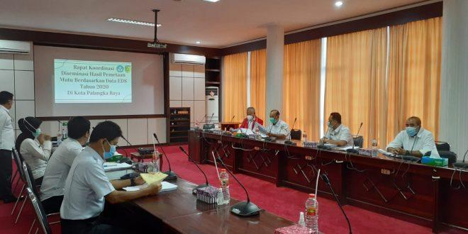 Inspektorat Kota Palangka Raya mengikuti Rapat Koordinasi Diseminasi Hasil Pemetaan Mutu